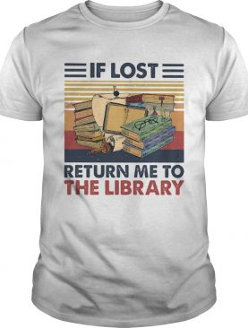If lost return me to the library vintage retro shirt