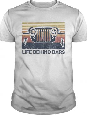 Life Bihind Bars Car Vintage Retro shirt