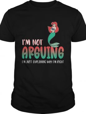 Mermaid im not arguing im just explaining why im right shirt