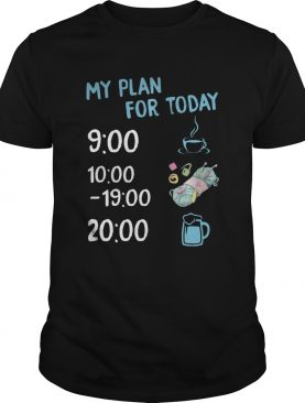 My plan for today coffee knitting and beer shirt