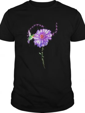 Never give up bird chrysanthemum fibromyalgia shirt