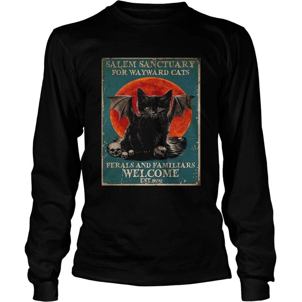 Poster Salem Sanctuary For Wayward Cats Ferals And Familiars Poster  Long Sleeve