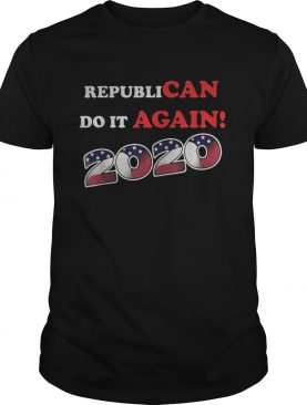 Republican do it again 2020 american flag independence day shirt