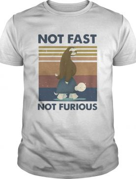 Sloth Turtle Not Fast Not Furious Vintage shirt
