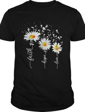 Snoopy flower faith hope love heartbeat shirt