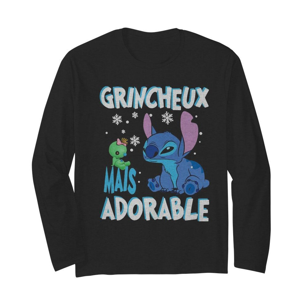 Stitch and scrump grincheux mais adorable  Long Sleeved T-shirt