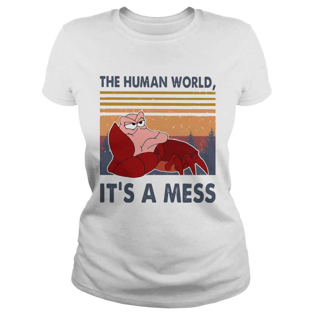 The Human World Its A Mess Vintage  Classic Ladies