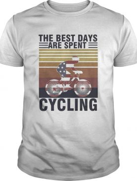 The best days are spent cycling american flag vintage retro shirt