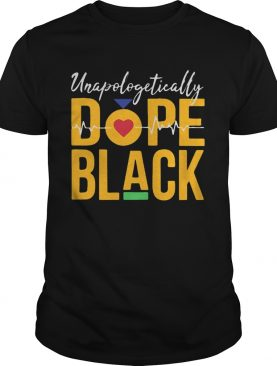 Unapologetically dope black heartbeat shirt