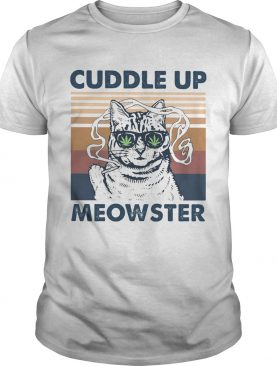 Weed cuddle up meowster vintage retro shirt