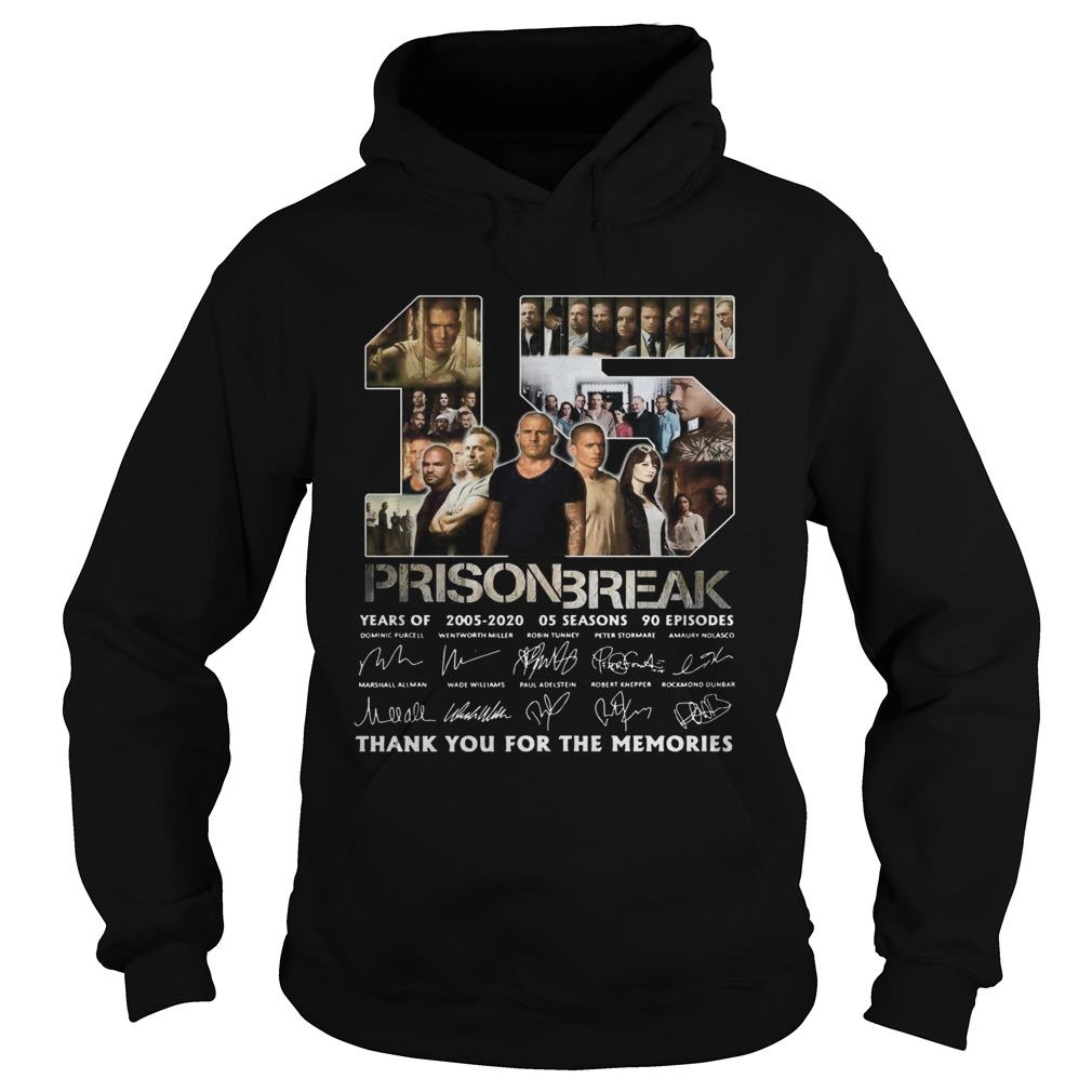 15 Prison Break Thank You For The Memories The Signature  Hoodie