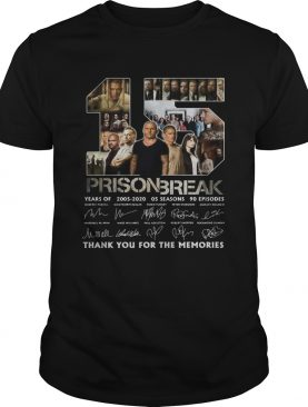 15 Prison Break Thank You For The Memories The Signature shirt