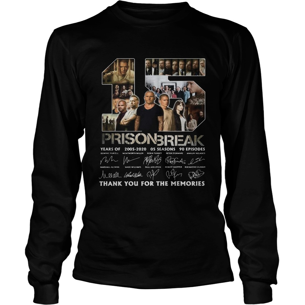 15 Prison Break Thank You For The Memories The Signature  Long Sleeve