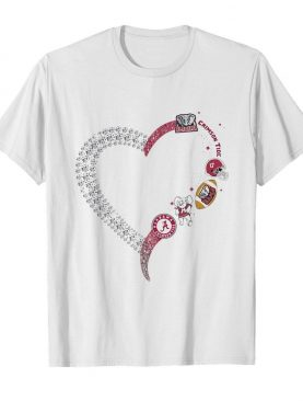 Alabama crimson tide football logo heart shirt