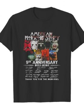 American Horror Story 9th Anniversary 2011 2020 Thank You For The Memories shirt