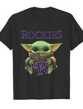 Baby yoda hug colorado rockies logo shirt