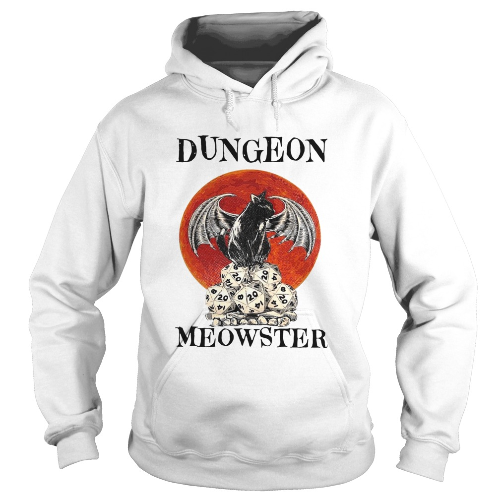 Bat And Black Cat Dungeon Meowster  Hoodie