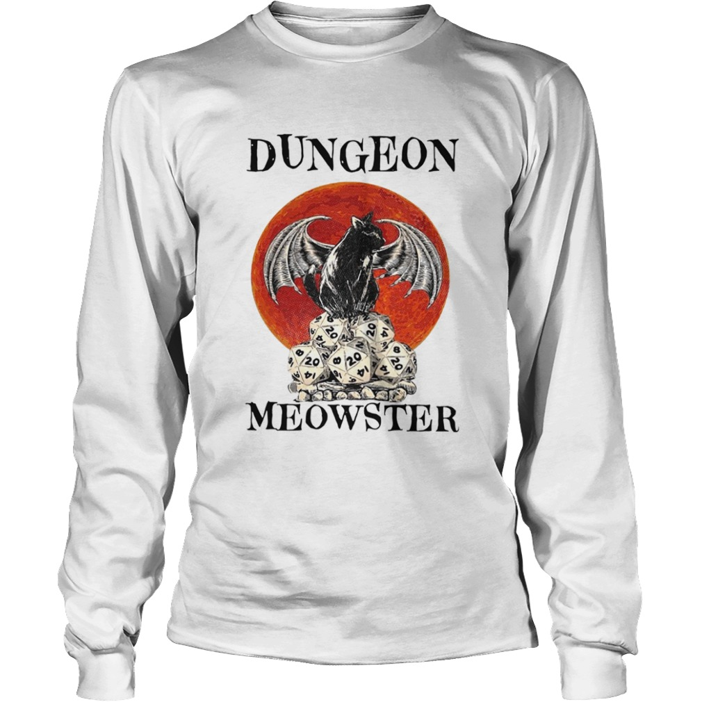 Bat And Black Cat Dungeon Meowster  Long Sleeve