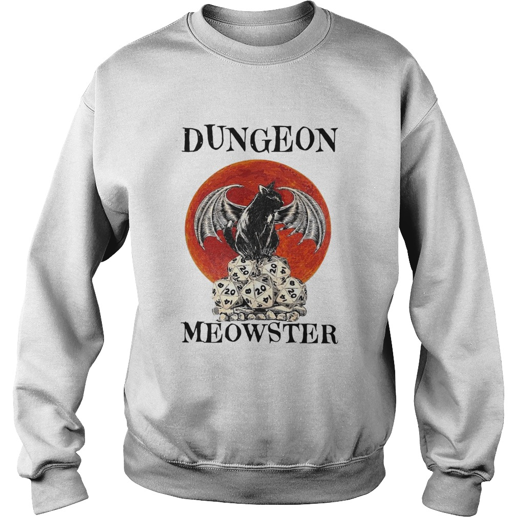 Bat And Black Cat Dungeon Meowster  Sweatshirt