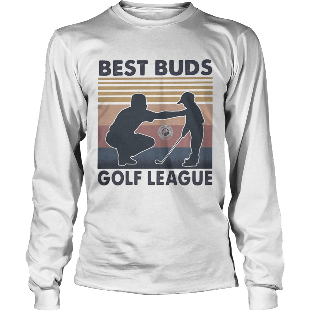 Best buds golf league vintage retro  Long Sleeve