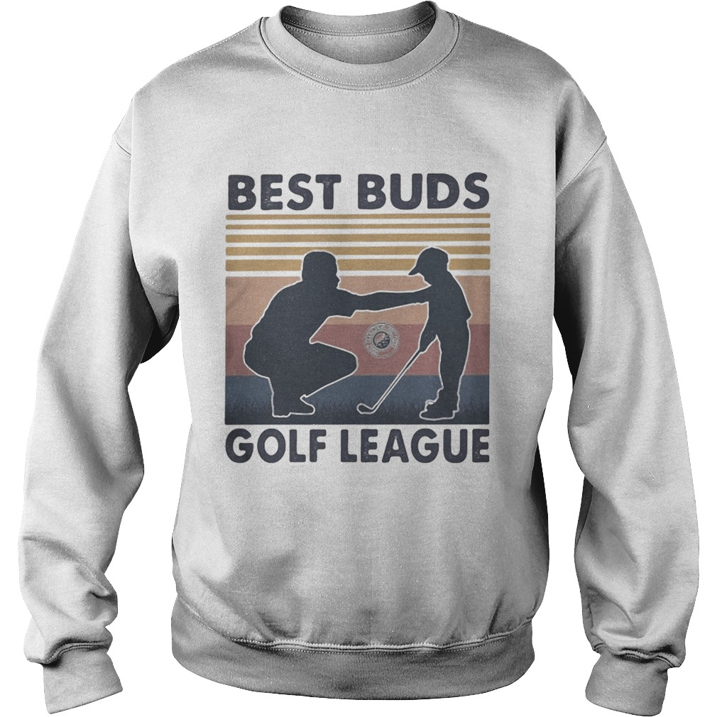 Best buds golf league vintage retro  Sweatshirt
