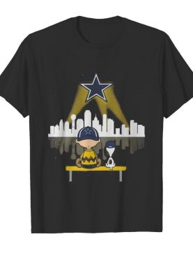 Charlie brown and snoopy dallas cowboys football shirt