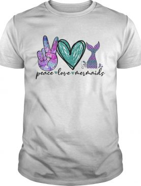 Diamond peace love mermaids shirt