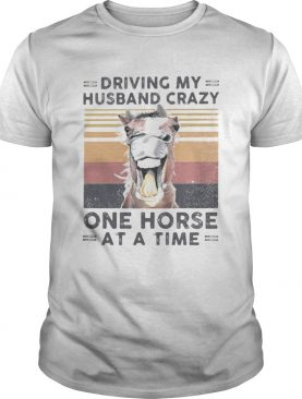 Driving my husband crazy one horse at a time vintage retro shirt