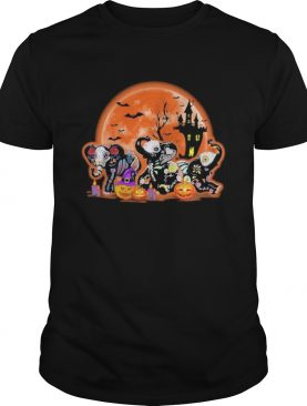 Elephants Pumpkin Moon Halloween shirt