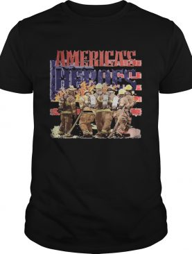 Firefighter americas heroes american flag independence day shirt