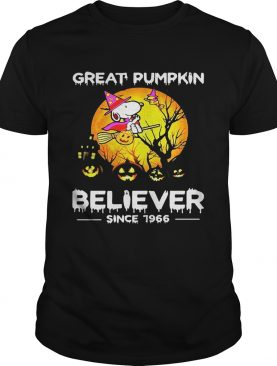 Halloween snoopy great pimpkin believer since 1966 shirt