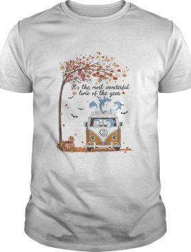 Hippie Car Dolphins Its The Most Wonderful Time Of The Year Halloween Autumn shirt