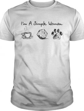Im a simple woman coffee dungeon and paw shirt