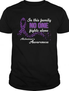 In this family no one fights alone alzheimers awareness shirt