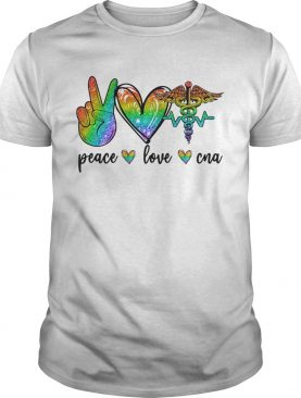 LGBT diamond peace love CNA shirt