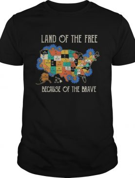 Land of the free home of the brave map covid19 shirt