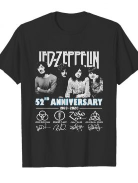 Led zeppelin 52nd anniversary 1968 2020 thank you for the memories signatures shirt