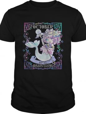 Mermaid october oppai anime shirt