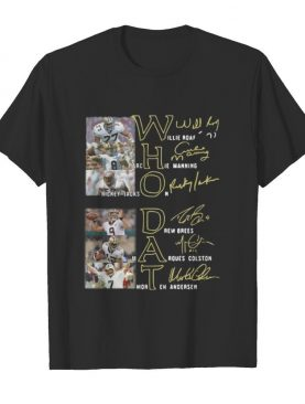 New orleans saints who dat football signature shirt