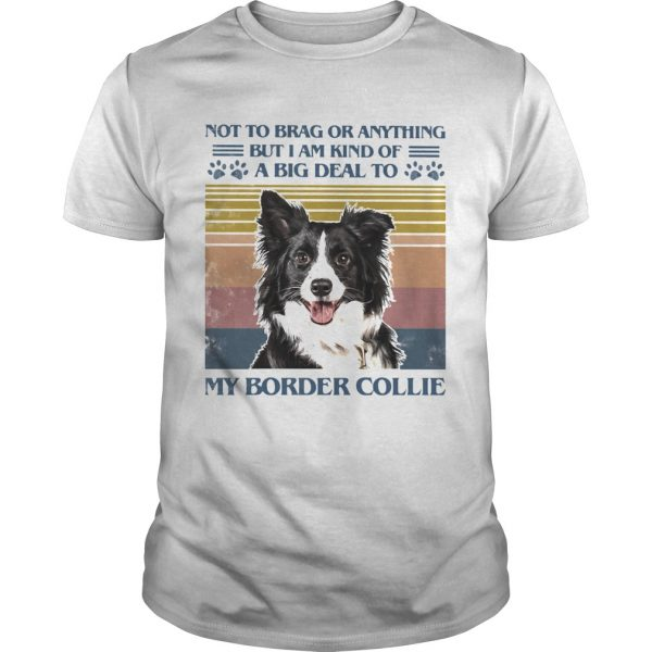 Not To Brag Or Anything But I Am Kind Of A Big Deal To My Border Collie shirt