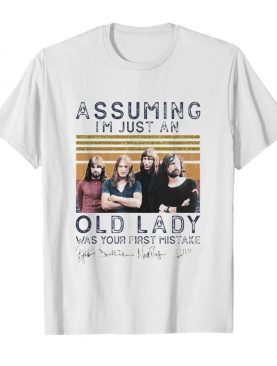 Pink floyd assuming i'm just an old lady was your first mistake signatures vintage retro shirt