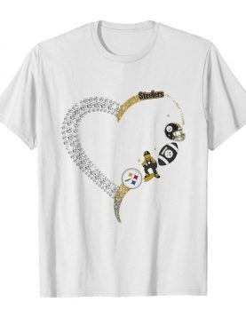 Pittsburgh steelers football logo heart shirt