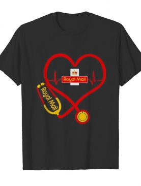 Royal Mail nurse stethoscope love heartbeat shirt