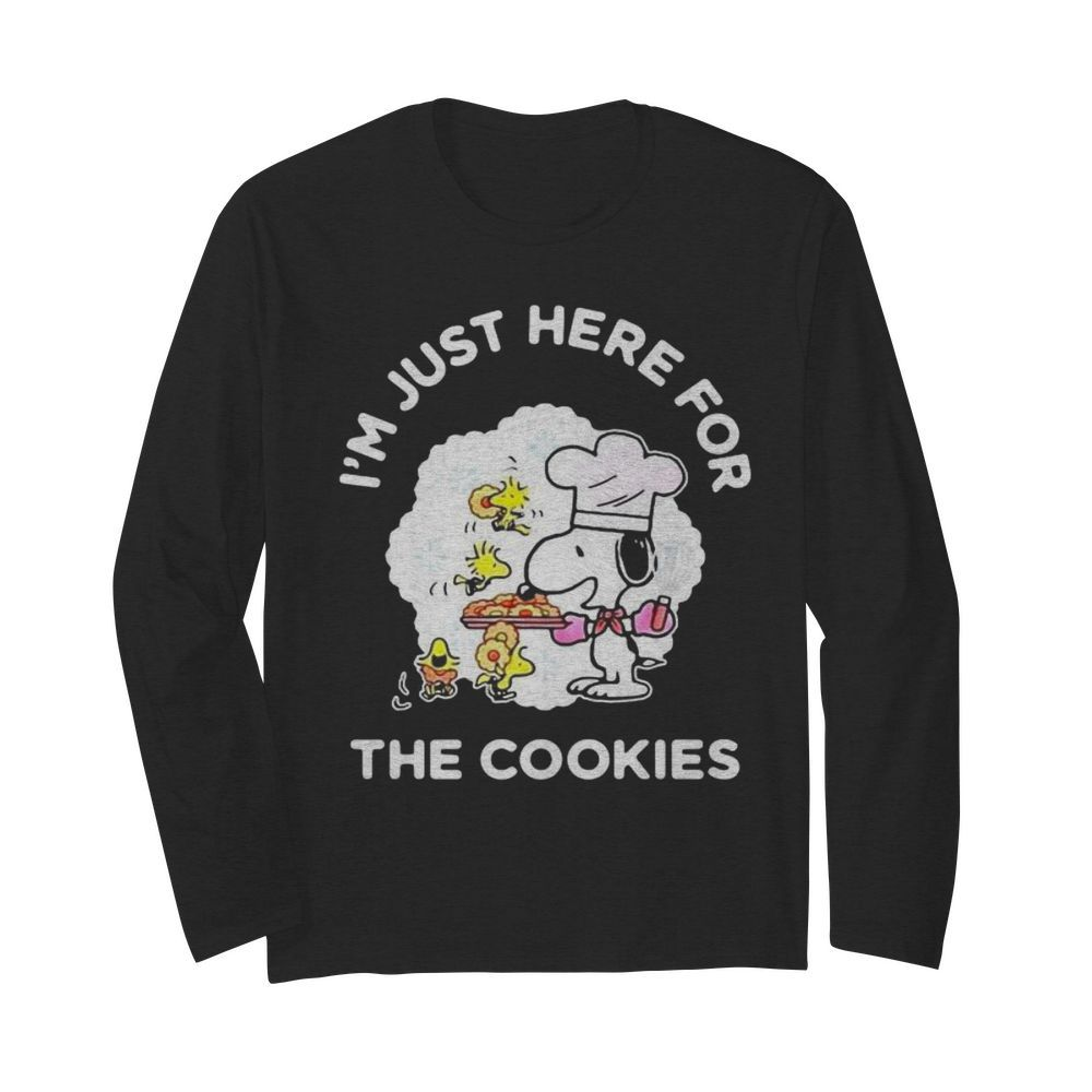 Snoopy and woodstock i'm just here for the cookies  Long Sleeved T-shirt
