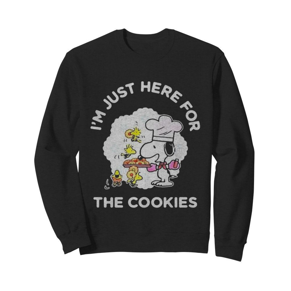Snoopy and woodstock i'm just here for the cookies  Unisex Sweatshirt