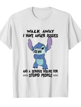 Stitch mask walk away i have anger issues and a serious dislike for stupid people shirt