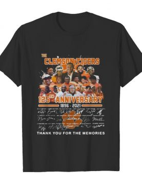 The clemson tigers 125th anniversary 1896 2020 thank you for the memories signatures shirt