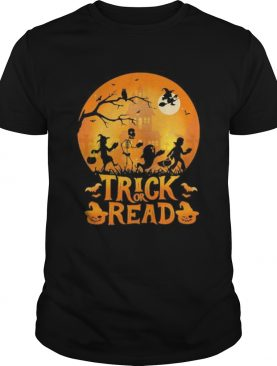 Trick Or Read Witch And Ghost Halloween shirtCopy
