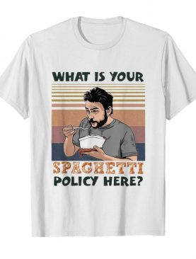 What is your spaghetti policy here vintage retro shirt