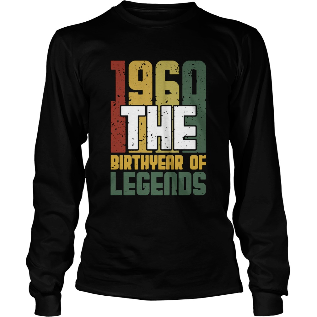 1960 The Birthyear Of Legends Vintage  Long Sleeve